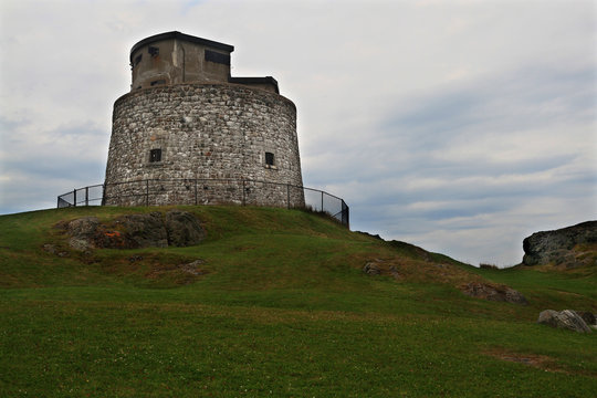Carleton Martello Tower in Cloudy Day