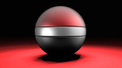Ball icon for play in game. 3D illustration. 3D CG.