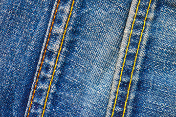 two stitches on jeans