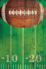 Vintage American Football Ball Field Background