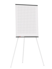Office flipchart isolated on white