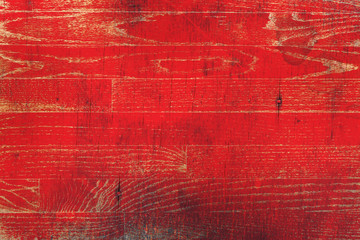 Red Paint Washed Wooden Background