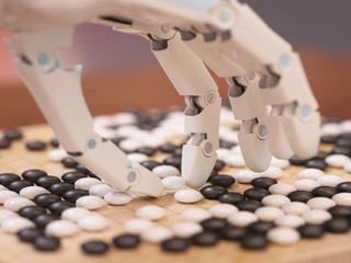 Artificial Intelligence Playing Go Fototapete