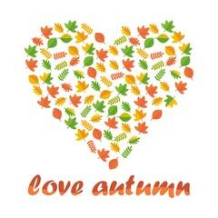 love autumn card