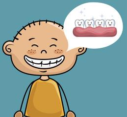 children smile dental healthcare icon vector illustration graphic