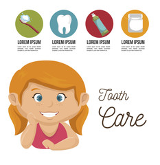 children smile dental healthcare icon vector illustration graphic