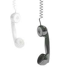 hanging phone handsets, 3D rendering