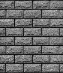Texture of grey decorative tiles in form of brick