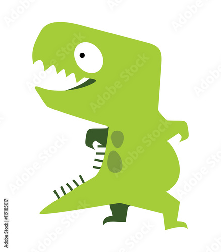 cute dinosaur vector flat design