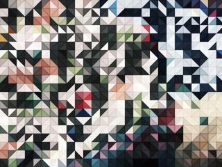 Dark gray grunge tringle mosaic abstract background