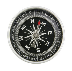 compass top view of isolated