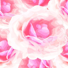 Vector illustration of floral seamless. Abstract isolated hand d