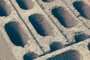 Cement brick background close up
