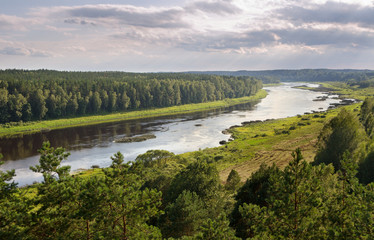 River Daugava in Latvia.