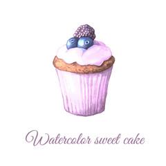 Watercolor fruit cake