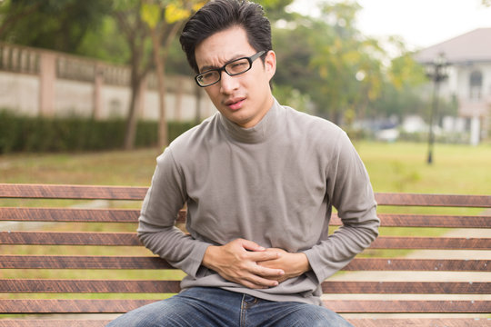 Man has stomach ache