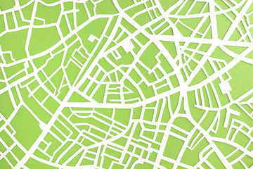 Straßenkarte Papierschnitt