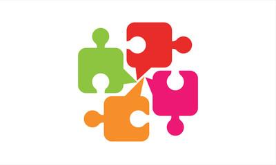 Talk puzzle logo