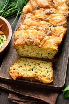 Sliced vegetable moist bread