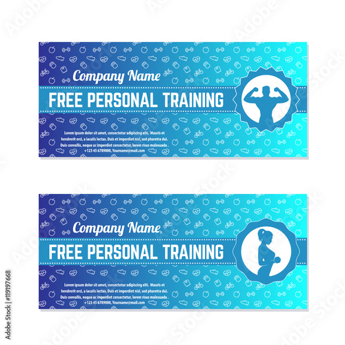Free personal training gift voucher for gym fitness center free personal training gift voucher for gym fitness center modern template yadclub Gallery