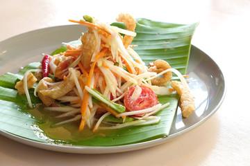 Somtam - Papaya salad - Thai food