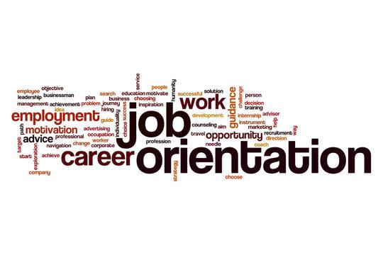 Job orientation word cloud