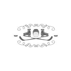 hockey icons. Logo hockey. Logo for the hockey team. Minimalism. Sport icon. Vector