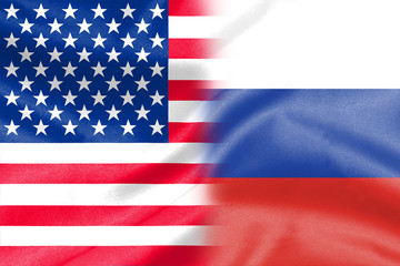 half america half russia flag