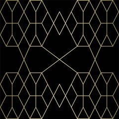 gold texture vector geometric patterns on a black background