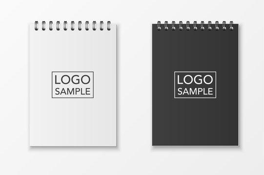 Realistic vector notebook set