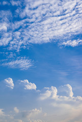 Fototapete - beautiful sky with clouds vertical background.