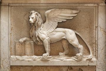 Venetian Lion of Saint Marks Square Venice Italy