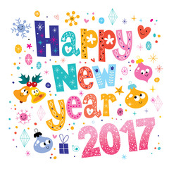 Happy New year 2017 card