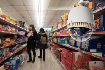 Security camera monitoring in super market