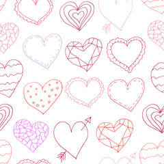 Seamless patterns with wedding decor elements