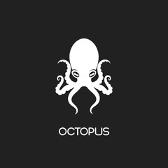 Octopus Symbol Icon or Logo Template.