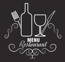 menu restaurent food icon vector illustration design