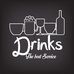 menu drinks service icon vector illustration design