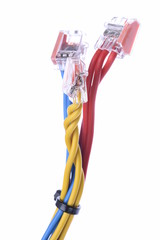 Colorful electrical cables with connectors