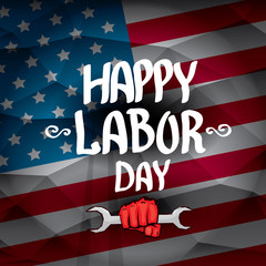 Usa labor day vector background.