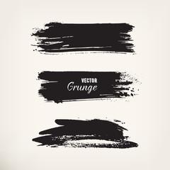 Grunge black ink stroke
