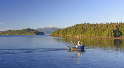 Early Morning Fishing Boat on the Inside Passage