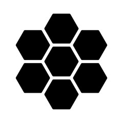 Honeycomb / honey comb hexagonal pattern flat icon for apps and websites
