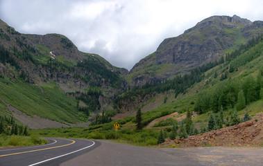 Million Dollar Highway Winding through Mountains