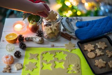 Baking of Christmas cookies