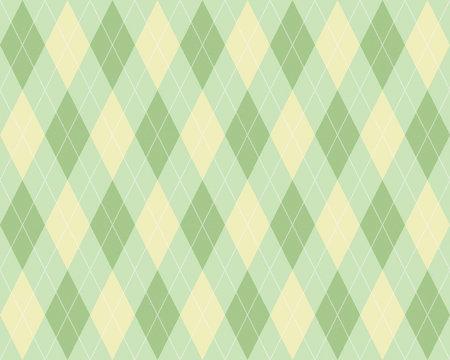 布地風アーガイル模様シームレス(繰り返し)パターン 背景素材 緑色系
