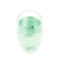Tall glass of lemonade isolated