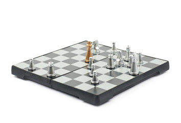 Chess board composition isolated