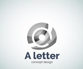 Vector A letter concept logo template