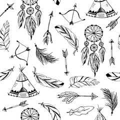 Vector set with tribal, indian elements